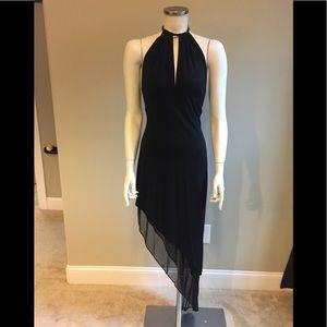 Cache Halter Dress Asymmetrical Dress